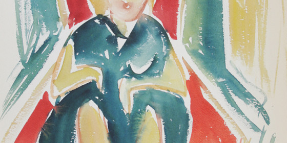 Dancer Watercolor 1961 X37