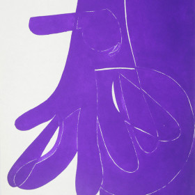 figurative graphic art India Ink the hand 1966 x48