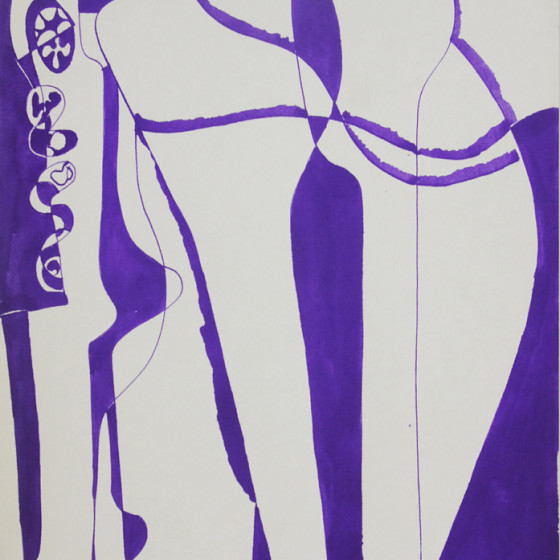 abstract graphic art India Ink-1966 x43