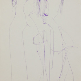 figurative graphic art Ink Kiss 1965 x19