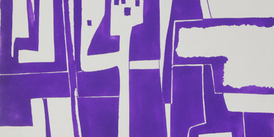 abstract graphic art India Ink 1967 x44