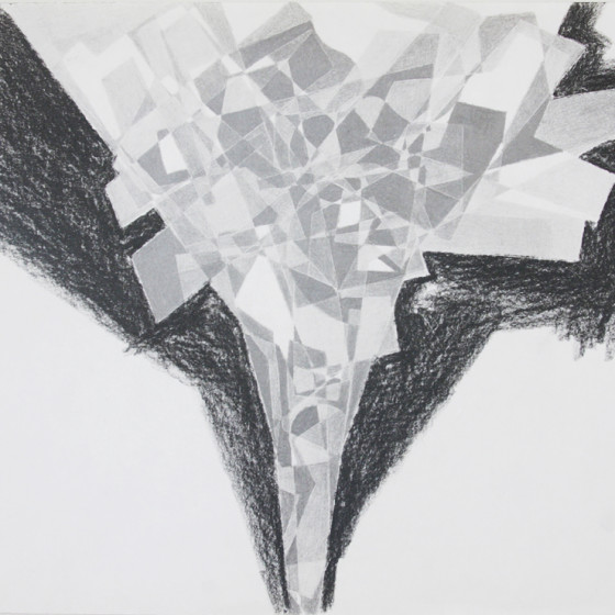 late abstract graphic art Drawing Carbon 1993 x55