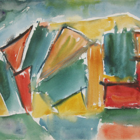 In search of style (60s abstraction) Watercolor 1960s x34