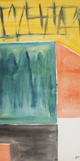 In search of style (60s abstraction) Watercolor 1962 x39
