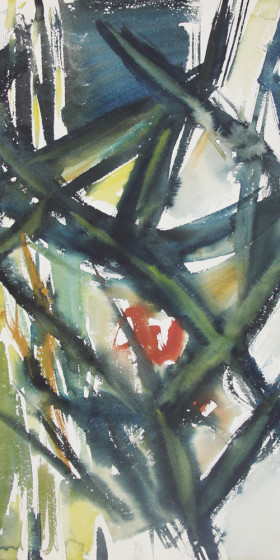 In search of style (60s abstraction) Watercolor 1965 x33