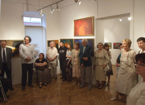 Group at exhibition opening